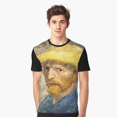 Awesome graphic t-shirt based on a van Gogh self-portrait #art tees #van gogh #vincent van gogh #impressionism #post impressionism Van Gogh Self Portrait, Portrait Art, Post Impressionism, Tees, Awesome, Mens Tops, T Shirt, Fashion, T Shirts