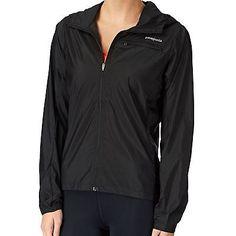 Patagonia Houdini Womens 24145-BLK Black Nylon Hooded Windbreaker Jacket Size S