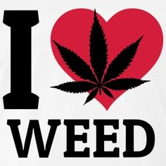 I love Weed me encanta weed Sudaderas - Camiseta premium hombre