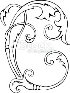 Curly Swirl Royalty Free Stock Vector Art Illustration