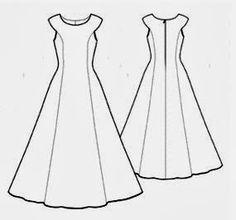 FREE Sewing Pattern Long Dress - Molde de costura para vestido evasé y corte princesa | EL BAÚL DE LAS COSTURERAS