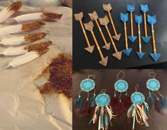 pocahontas inspired DIY crafts my best friend made for her daughters party