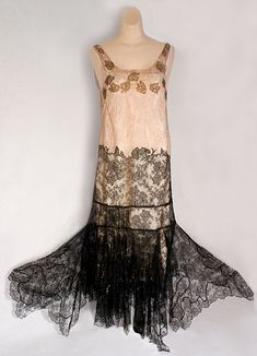Sequined lace party dress, c.1925