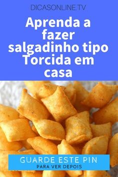 Salgadinho torcida No Salt Recipes, Chef Recipes, My Recipes, Real Food Recipes, Favorite Recipes, Food Decoration, Four, Yummy Snacks, Food Porn