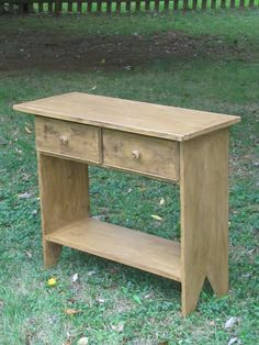 Primitive Two Drawer Table by rustynailprimitives on Etsy, $150.00