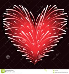 Coeur De Feux D'artifice Photographie stock - Image: 28442722