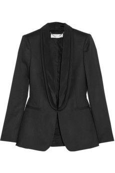 Stella McCartney Melissa satin-trimmed wool tuxedo jacket | NET-A-PORTER
