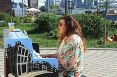 2015 Sing for Hope Piano placed in NYC Transmitter Park