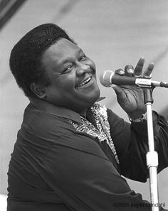 """Fats Domino, """"Blueberry Hill"""" where he found his thrill."""