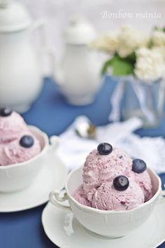 Bonbon mánia: Joghurtos áfonya fagylalt Ice Cream Freeze, Frozen Yoghurt, Parfait, My Recipes, Cereal, Cocktails, Pudding, Breakfast, Glass