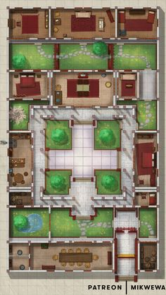 Cool Secret Rooms, Dnd World Map, Fantasy City Map, Chinese Courtyard, Japanese Style House, Ancient Chinese Architecture, Rpg Map, Sims 4 House Design, Courtyard House Plans