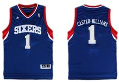 Philadelphia 76ers #1 Michael Carter -Williams Revolution 30 Swingman Blue Jersey