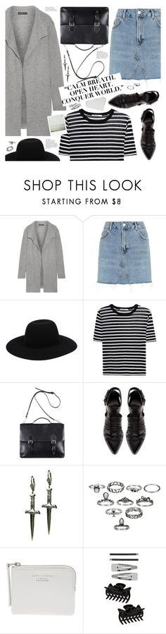 """""""back to school"""" by valentino-lover ❤ liked on Polyvore featuring James Perse, Topshop, Off-White, T By Alexander Wang, Zara, Tina Tang, Acne Studios and Dorothy Perkins"""