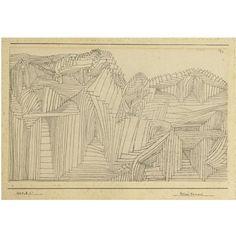 Felsen Tempel (Rock-cut temple) by Paul Klee