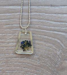 lavender flower necklace