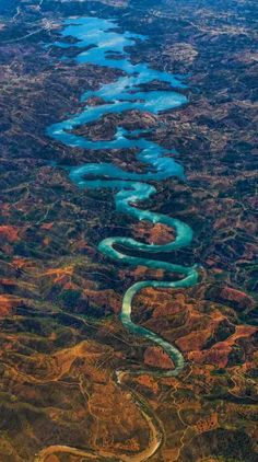 Located in Portugal and known as the Odeleite River to locals, the river's forbidding twists make it easy to understand why it's often given another name: the Blue Dragon River.