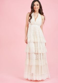a422d2aafe2 Layered Love Maxi Dress in Ivory in XL