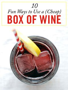 Don't waste your money on the good stuff for your backyard barbecue! These hacks will turn boxed wine into a fancy, big-batch summer drink.