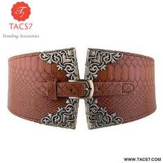 Waist Belt Leather Lady Elastic Wide Fashion Waistband Women Retro Metal  Buckle f6bfee689f1c