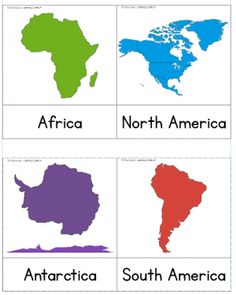 Learn the continents free printable free printable learning and continent cards freebie gumiabroncs Images