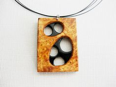 Exotic wood and buffalo horn necklace  by NatureArtJewellery, $59.00