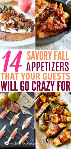 14 Easy Fall Party Appetizers That Are Sophisticated and Chic - XO, Katie Rosario - - Fall has arrived and that means that holiday flavors are here! This tasty Fall Party Appetizers may look elegant, but trust me, they are so simple to make! Girls Night Appetizers, Fall Appetizers, Finger Food Appetizers, Appetizer Recipes, Harvest Appetizers, Finger Foods, Fall Snacks, Snacks Für Party, Party Party