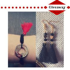 Merry Giveaway just for you! Lucky bracelet and earrings! Giveaways, Tassel Necklace, Just For You, Merry, Presents, Bracelets, Earrings, Christmas, Gifts