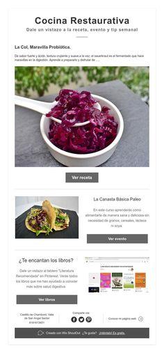 Cocina Restaurativa  Dale un vistazo a la receta, evento y tip semanal