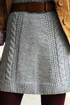 Rosa acessórios em tricô & crochê: Saia de tricot