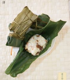 Zongzi, rice wrapped in leaves