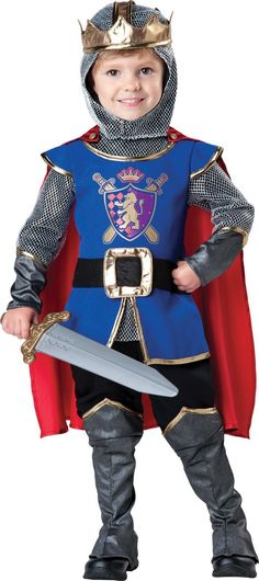 Toddler Boys Noble Knight Costume - Party City