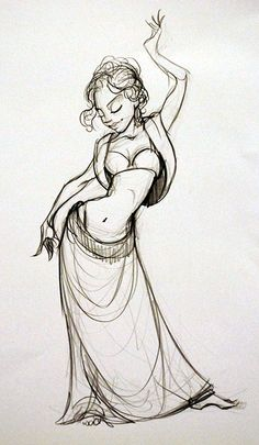 Belly Dancer theme photo and artwork | The Drawing Club