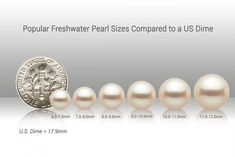Pearl Sizes: The Ultimate Guide to Choosing the Perfect Pearls - Pure Pearls Double Pearl Earrings, White Pearl Necklace, Pearl Studs, Pearl Rings, White Freshwater Pearl, Freshwater Pearl Necklaces, Necklace Sizes, Tahitian Pearls, Stone