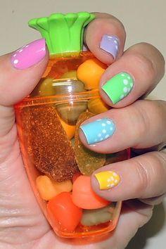 Easter Nails like the pastel colors Funky Nails, Love Nails, My Nails, Fabulous Nails, Gorgeous Nails, Pretty Nails, Seasonal Nails, Holiday Nails, Cute Nail Designs