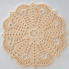 Diy Crafts - super Ideas for crochet doilies placemat rugs Filet Crochet, Crochet Lace Edging, Crochet Flower Patterns, Crochet Mandala, Crochet Squares, Thread Crochet, Crochet Designs, Crochet Home, Diy Crochet