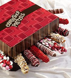Candy Covered Pretzels For Valentine's Day - Sweet! Valentines Day