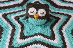 Crochet Owl Lovey/Security Blanket Owl Amigurumi Owl Stuffed Animal and Star Blanket Cute Crochet Baby or Toddler Owl Blanket Gift  ************************************************************************************ Everyone will have a hoot over this owl blanket! It would be perfect snuggling buddy for a little one. Made in a smoke free environment. Measurements: ~ Owl is approximately 4 inches tall and wide ~ From the bottom of the owl to the tip of the blanket is approximately 13 inches…