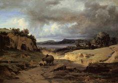 The Roman Campagna (La Cervara) 1826-1827 Camille Corot - WikiArt.org