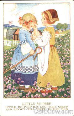 Millicent Sowerby vintage postcard - nursery rhyme