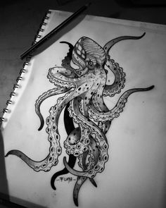 You are in the right place about simple Tattoo Here we offer you the most beautiful pictures about the Tattoo … Ocean Sleeve Tattoos, Octopus Tattoo Sleeve, Kraken Tattoo, Tattoos Mandala, Octopus Tattoo Design, Tattoos Geometric, Shark Tattoos, Leg Tattoos, Body Art Tattoos