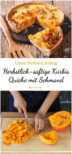 Herbstlich-saftige Kürbis Quiche mit Schmand Here is a recipe for a hearty, juicy, autumnal quiche with Hokkaido … Egg Recipes, Fall Recipes, Easy Healthy Recipes, Healthy Snacks, Pumpkin Quiche, Nutrition, Evening Meals, Vegan Breakfast Recipes, Eating Habits