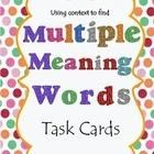 Good readers use context to figure out the meaning of unknown words, or words that have multiple meanings.   Use Using Context to find Multiple Mea...