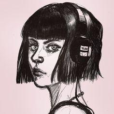 #ballpen #portrait #rockandrollgirl #headphonesgirl #bw #rosarionocturno #noircomics #vampires Vampires, My Arts, Darth Vader, Comics, Portrait, Illustration, Fictional Characters, Instagram, Portraits