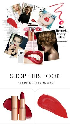 """red lips"" by sariahfranklin ❤ liked on Polyvore featuring beauty, MAC Cosmetics, Rupaul, Christian Louboutin and By Terry"