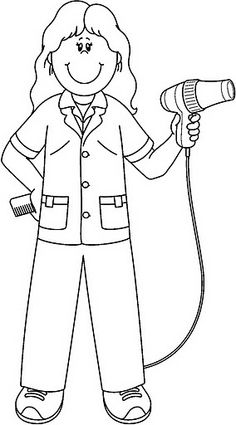 Best Coloring: Community helpers hats coloring pages - Amazing Coloring sheets -