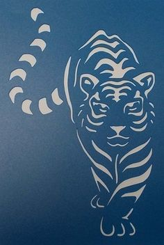 Tiger Stencil, Animal Stencil, Stencils, Stencil Art, Stencil Patterns, Stencil Designs, Stencil Templates, Tiger Silhouette, Scroll Saw Patterns