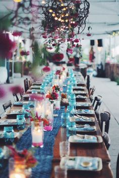NYC rooftop beautiful outdoor table setting.