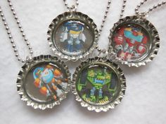Transformer Rescue Bots Party pack of 6 Bottle by Lilmisscupcake2, $12.00