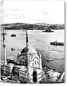 Eski zamanların İstanbul'u Dolmabahçe Camii - 1950