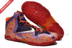 Orange Purple Red Nike Lebron XI 11 Lebron James Shoes 2013